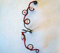 Non Pierced Gothic Crystal Ear Wrap by ArianrhodWolfchild on Etsy, $15.00