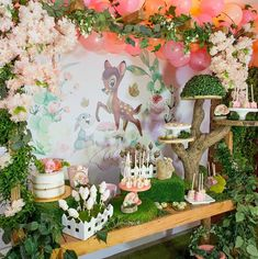 La imagen puede contener: flor y planta 1st Birthday Party For Girls, Kids Birthday Themes, Bambi Baby, First Birthday Photography, Sunshine Baby Showers, Baby Girl Shower Themes, Balloon Centerpieces, Festa Party, Decoration