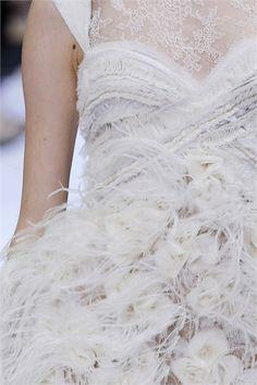 lace ruching & ruffles