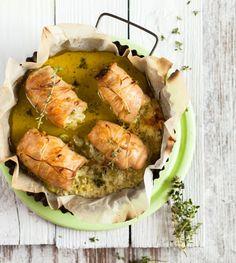 Kuřecí závitky s pestem Fresh Rolls, Pesto, Ethnic Recipes, Food, Meal, Essen, Hoods, Meals, Eten