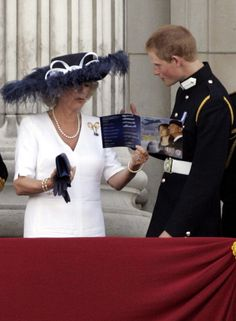 """Camilla, Duchess of Cornwall, 2005,,, """"Are you under there?"""""""