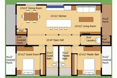 18 Small House Designs With Floor Plans The Plan, How To Plan, Plan Plan, Small House Plans, House Floor Plans, Contemporary House Plans, My Pool, House Blueprints, Sims House