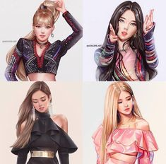 Blackpink is the revolution – Cr. Blackpink Jisoo, Kpop Girl Groups, Korean Girl Groups, Kpop Girls, Kpop Fanart, Mode Kpop, Art Rose, Black Pink Kpop, Chica Cool