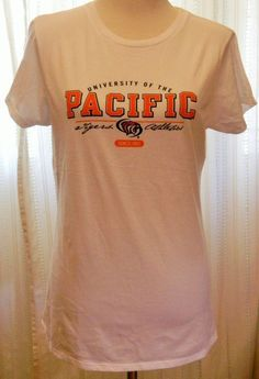 1e17622a5fc Women s Tshirt University of the Pacific Tigers Athletics White Size XL   GfsCoed  EmbellishedTee University