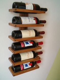 Wall wine rack by ChipsOfFantasy on Etsy, $30.00
