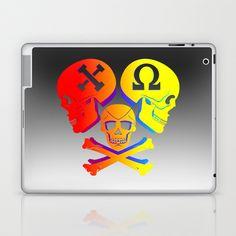 Chi Omega, Skull set one  Laptop & iPad Skin by seb mcnulty - $25.00