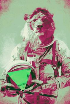 Leon astronauta.
