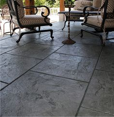 Look, more slate-looking stamped concrete. Too gray.
