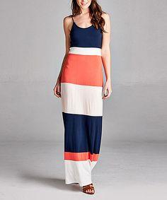 Loving this Coral Stripe Maxi Dress on #zulily! #zulilyfinds