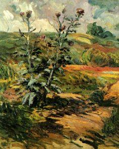Two ThistlesparVincent van Gogh  Medium: oil on canvas