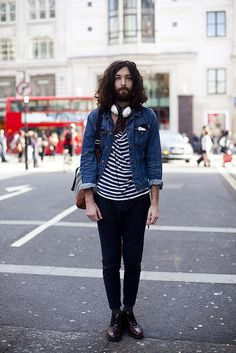 stipes and denim by partyonkat, via Flickr