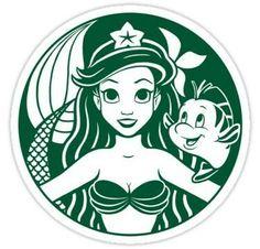 Ariel starbucks logo Vinyl