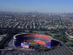 Shea Stadium, Aerial View, Ny Mets Photographic Print