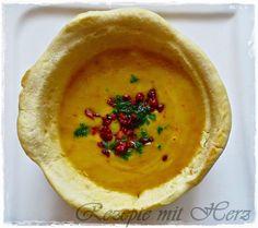 Rezepte mit Herz: Kartoffelcremesuppe in essbarer Suppenschale
