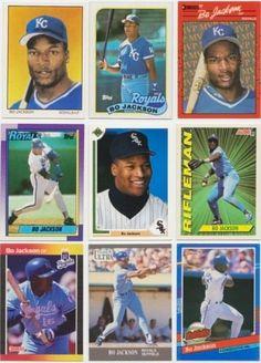 Bo Jackson / 25 Different Baseball & Football Cards featuring Bo Jackson! No Duplicates by Frank's Cards. $12.95. Great mix of cards featuring many different premium brands & years. No Duplicates / All Different!