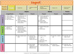 These year long plans are based off of the the American Methodology book by Ann Eisen and Lamar Robertson. I did add many of the songs and materials that I use. In the American Methodology book. Elementary Music Lessons, Music Lessons For Kids, Music Lesson Plans, Singing Lessons, Singing Tips, Piano Lessons, Elementary Schools, Learn Singing, The Plan