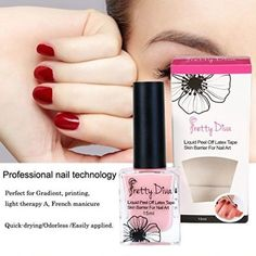 PrettyDiva Latex Tape Peel Off Cuticle Guard Skin Barrier Protector Nail art Liq Package Include: 1 PC 15ml pink peel off liquid tape. Advantages: Dry fast and easy to completely peel off. Feature: Made of Shea butter essence and pure natural minerals, innocuous and no stimulation, great smell and without damaging your skin. Usage: Apply the pink latex all around your fingernail before manicure, let it dry about a minute, then continue with your normal manicure. Peel it off after the last…