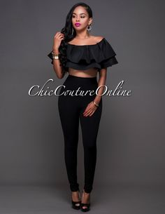 Chic Couture Online - Landry Black High-Waist Leggings.(http://www.chiccoutureonline.com/landry-black-high-waist-leggings/)