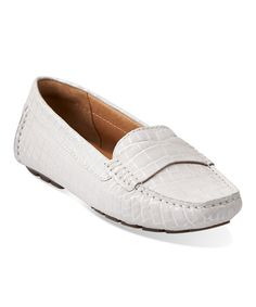 Another great find on #zulily! Light Gray Dunbar Grandby Leather Moccasin #zulilyfinds