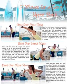 3 Moves for a SEXY Upper Back~ get ready to sculpt your muscles and have better posture too!