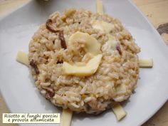 Risotto+ai+funghi+porcini+e+provola+affumicata