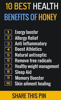 10 Health Benefits on Honey