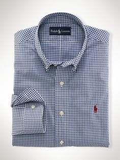 f0a1ece5c Custom-Fit Gingham Shirt - Polo Ralph Lauren Custom-Fit - RalphLauren.com