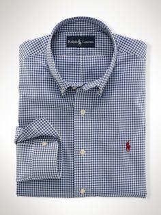 polo ralph lauren custom-fit gingham shirt
