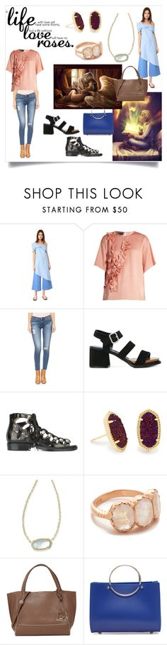 """Life Love Roses"" by mkrish ❤ liked on Polyvore featuring Baja East, Rochas, AG Adriano Goldschmied, Tod's, Toga, Kendra Scott, Arik Kastan, Botkier and Future Glory Co."