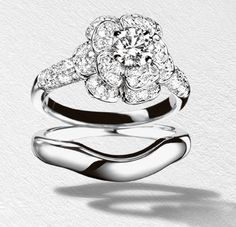 Chanel 1932 bridal flower engagement ring. This is so gorgeous and unique! I want it!