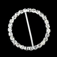 "Size: 1 1/2"" Across  Elegant ""Circle of Love"" crystal bouquet accent is the perfect finishing touch to any bridal or bridesmaid bouquet. Add sparkle and glamour with this stunning circular crystal buckle."
