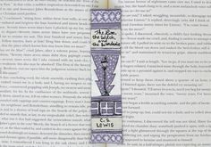 Painted Bookmark // The Lion, The Witch, and The Wardrobe Classic Hardcover // Book Spine Bookmark // CS Lewis // Narnia // Gift for Readers