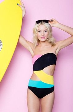 Need this now! Cutout one-piece swimsuit by Volcom.
