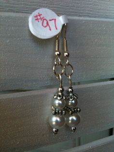 Large White Pearl Small White Pearl Tibetan silver by GodsGlitter, $6.00