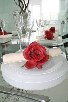 Photo about Romantic dinner table setup closeup. Romantic Dinner Tables, Romantic Dinner Setting, Romantic Dinners, Dinner For One, Dinner Sets, Cute Date Ideas, Anniversary Dinner, Dinning Table, Table Decorations