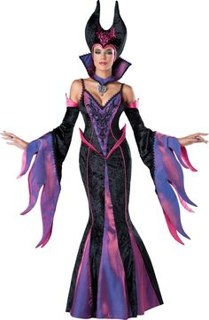 InCharacter Costumes Women's Dark Sorceress Costume, Purple/Black, Small