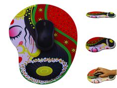 Add some fun to your work, as you explore the pun of the new mouse pad from KCH!! The pretty damsel, 'Banno Dhanno' will steal your heart with her smile and shyness. All decked up as a bride, her gajra will fuel your spirits at work as you rest your wrist on her hairdo bun. Your hand will feel the comfort like never before as you work. A product from the theme of 'Kabhi Choti Kabhi Bun', provides that jibe at your desktop bringing back a smile as you enjoy moving the mouse around.