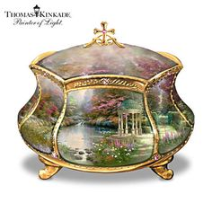 "Thomas Kinkade ""Garden Of Prayer"" Musical Prayer Box"