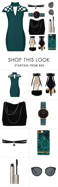 """Dark teal"" by lottie2004 ❤ liked on Polyvore featuring Rare London, Nine West, Gucci, Abbott Lyon, Fallon, Ilia, Prada and darkteal"