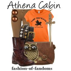 Outfit inspired by Athena's Cabin from Rick Riordan's Percy Jackson and the Olympians series