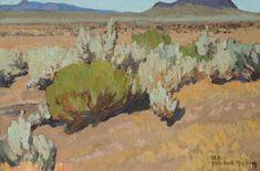 Maynard Dixon (1875-1946) Sage and Rabbit Brush Aldu County, Nevada July 1927 Oil on Canvas on Board 10 x 14