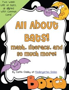 Common Core Unit on Bats: Math, Literacy, and So Much More!