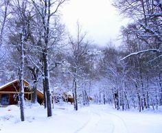 ski season in Basecamp, Valle Las Trancas, Termas de Chillan, Nevados de Chillan, Chile