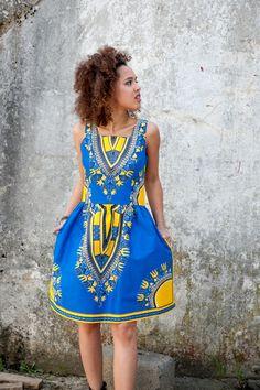 Robes ballon, Dress from Gambia - Addis Abeba est une création orginale de KOKOworld sur DaWanda