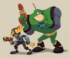 Ratchet and Qwark by nmrbk.deviantart.com on @deviantART