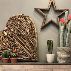 Why say it with flowers ? A driftwood heart and a cactus last much longer ! Flower Quotes, Rustic Wood, Happy Valentines Day, Driftwood, Home Accessories, Cactus, Interior Design, House Styles, Heart