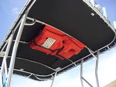 BUNGEE STorage pockets boat t major - Search engines Search Sailboat Living, Living On A Boat, Boot Dekor, Pontoon Boat Accessories, Truck Accessories, Boat Organization, Bayliner Boats, Sailboat Interior, Boat Restoration