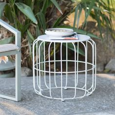 The ultra mod Coral Coast Abbeston Steel Wire Patio Side Table is sure to be your go-to decorative touch on your patio. Use this open cage table for. Affordable Outdoor Furniture, Outdoor Garden Furniture, Patio Side Table, Porch Flooring, Outdoor Tables, Outdoor Decor, Outdoor Living, Teak Table, Furniture Sale