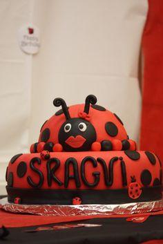 Cake from a Ladybug Party #ladybug #party