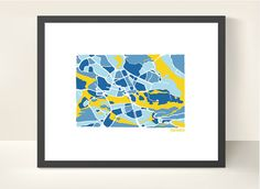 Stockholm City Map  illustration print by richardedalton on Etsy, €23.00